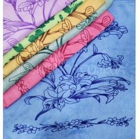Полотенце (салфетка) 600-75 размер 35*35 уп. 20 шт велюр-микрофибра (букет цветов)