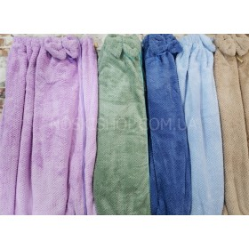 Полотенце-платье 9013 банное на резинке+пуговицы, размер 140*70 -уп. 1 шт. -микрофиба -(однотонное, травка-вафелька) -(Без выбора цвета!)
