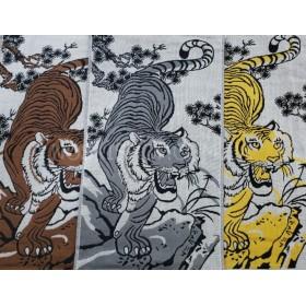 Полотенце 6262-14 кухонное лён-(cotton) размер 50*25 уп. 12 шт (тигр)