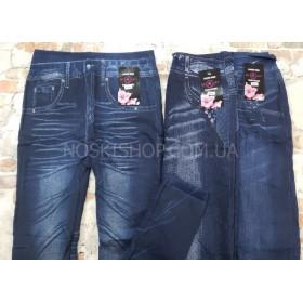 """Лосины-Джеггинсы """"Classic wear"""" 1812 бесшовные на меху имитация под джинсы р. 50-54 -микс моделей в широком ассортименте"""