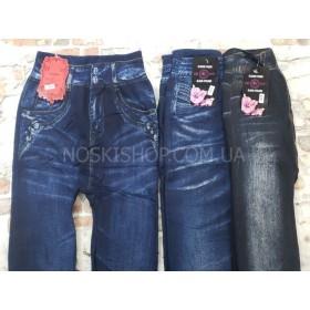 """Лосины-Джеггинсы """"Classic wear"""" 1805 бесшовные на меху имитация под джинсы р. 46-50 -микс моделей в широком ассортименте"""
