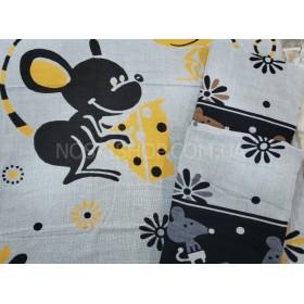 Полотенце 0130-50 банное лён-(cotton) размер 140*70 уп. 6 шт (мыши с сыром)