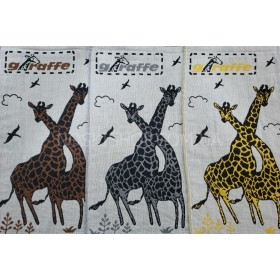 Полотенце 6261-13 кухонное лён-(cotton) размер 50*25 уп. 12 шт (жирафы)