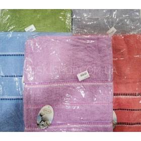 Полотенце WG-2-50 сауна р. 170*90 (уп. 1 шт) -(Однотонные+полоски) -микс цветов -(без выбора цвета)