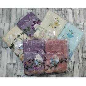 Набор лицевых полотенец Л-3088 махровые р. 90*45 (в уп. 2 шт) -микс цветов