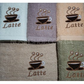 Полотенце КФ-1-384 кухонное, размер 70*35 уп. 10 шт (кофейные чашки) -микс вышивки в широком ассортименте