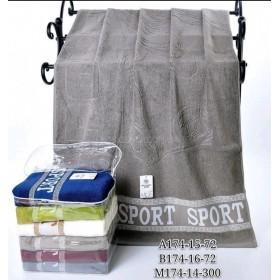 Полотенце А174-15-72 банное р. 140*70 уп. 6 шт (Sport в сумке -баня)