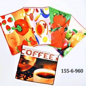 Полотенце (салфетка) 155-6 кухня р. 60*40 -уп. 12 шт -(3D картинки овощи +разный микс)
