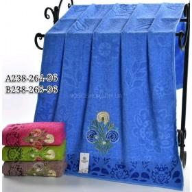 Полотенце А238-264-96 банное р. 140*70 уп. 8 шт (букет с трёх одуванчиков +цветочный орнамент -баня)