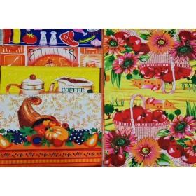 Полотенце (салфетка) 140-7 кухня р. 60*40 -уп. 12 шт -(Корзина с овощами +чайники +.... -разный микс)