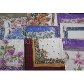 """Головной платок """"Хустка средняя в упаковке"""" 60*60 (уп. 10 шт одной расцветки), расцветки в широком ассортименте"""