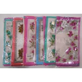 Носовой платок женский В172 р. 28*28 хлопок, расцветки в широком ассортименте