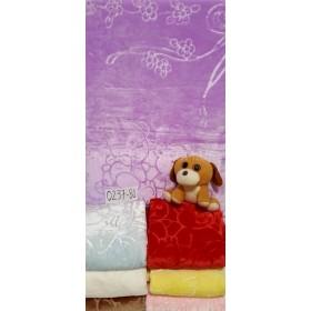 Плед детский KD-03 (плюшевое-толстое, однотонное) р. 110*140 -микс цветов -(без выбора цвета)