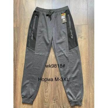 """Спортивные штаны """"BLACK CYCLONE"""" WK-9818 мужские трикотажные (на манжете), р. М-(46), L-(48), XL(50), 2XL-(52), 3XL-(54) -ростовка 5 шт -(синие, серые, черные)"""