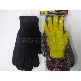 Перчатки универсальные Д-19 (жёлтая рука), уп. 10 пар,чёрные