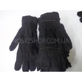 """Перчатки мужские """" Китай """", рабочие, двойные, чёрные"""